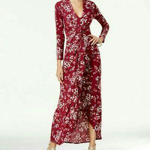 Thalia Sodi long sleeve high low maxi dress.
